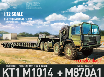 Picture of German MAN KAT1M1014 8*8 HIGH-Mobility off-road truck with M870A1 semi-trailer